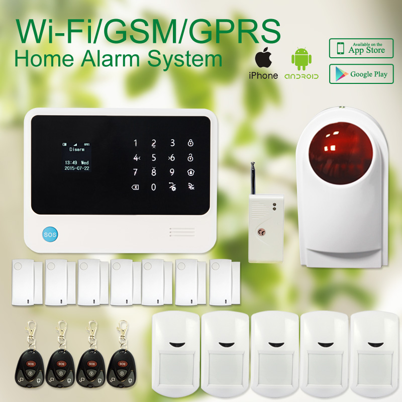 Golden security G90B plus gsm wifi home anti-thief intruder alarm support two way intercom / alarm linkage/ Iftting setting