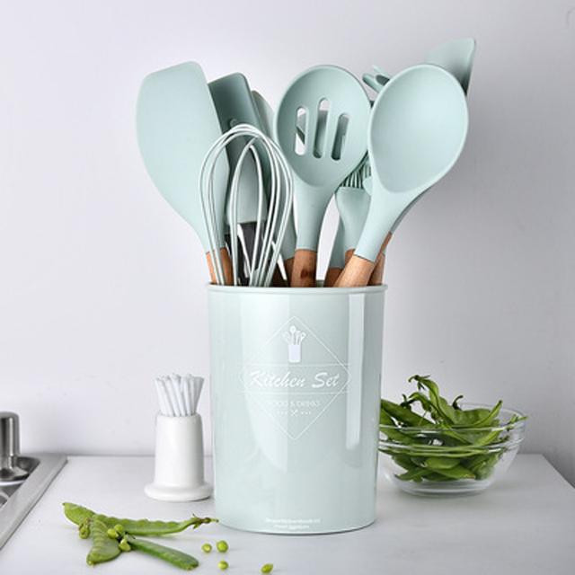 Silicon Non-stick Cooking Utensils Set