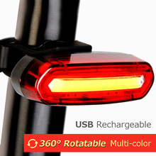 цена на USB Rechargeable Bicycle Rear Light Safety Warning Cycling Portable Light MTB Road Bike Waterproof LED Tail Light Back Lamp