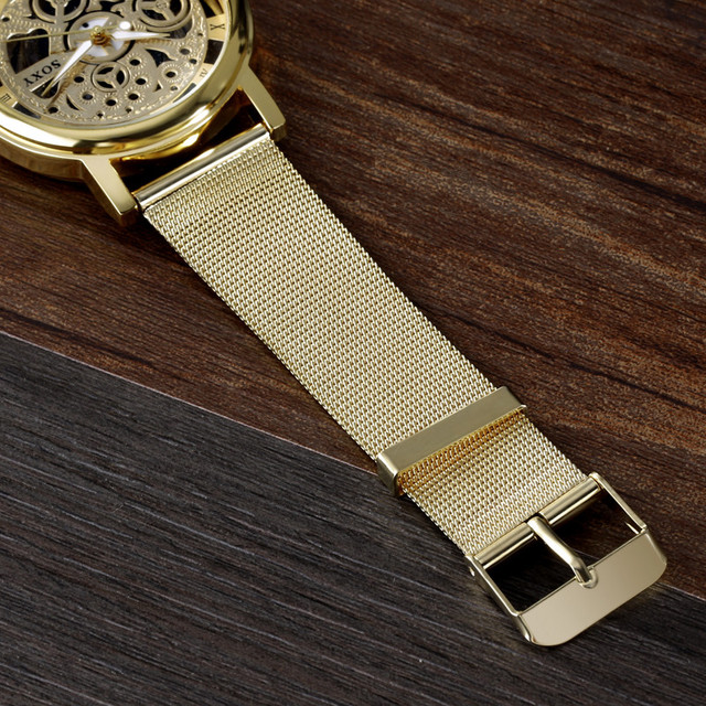SOXY Brand Golden Silver Luxury Hollow Steel Watches Men Retro Hombre Quartz Wrist watch fashion casual Man Women Unisex Relojes 5