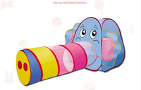 Cartoon Elephant Model Children Tunnel Tent Crawling Tunnel Funny Polyester Material Large Play Tents For Kids