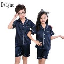 Детская весенне летняя одежда для сна девочек и мальчиков пижамный