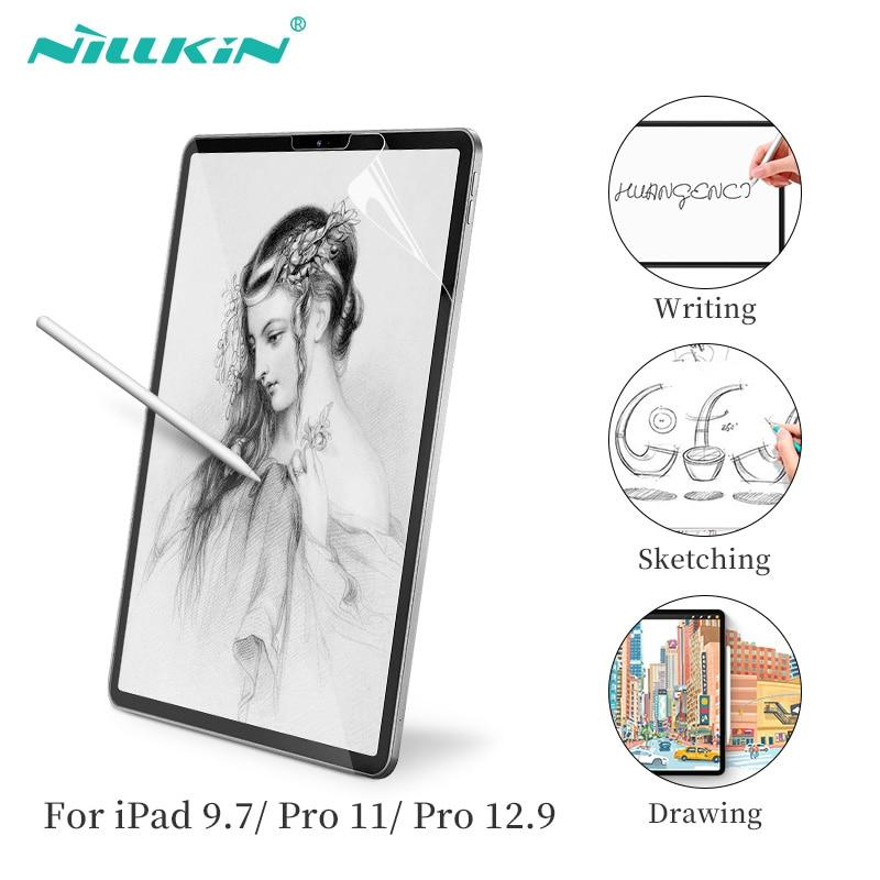 Nillkin ar papel-como protetor de tela para ipad 9.7 2017/2018 para ipad pro 11 para ipad pro 12.9 fosco papel textura esboço filme