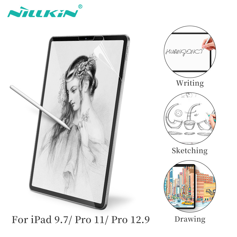 Papel AR-como Protetor de Tela NILLKIN para iPad 9.7 2017/2018 Para iPad Pro 11 Para iPad Pro 12.9 Fosco Filme Textura De Papel esboço