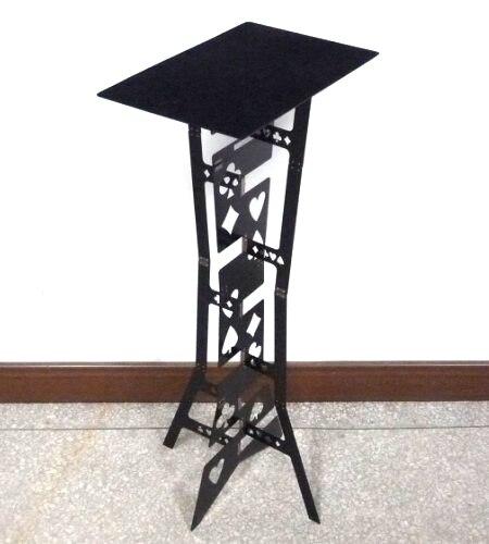 Table pliante magique (alliage)-couleur noire, meilleure table du magicien. Magie de scène, gros plan, illusions, accessoires, gimmick