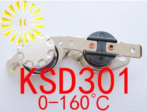 Купить с кэшбэком 5pcs x KSD301 0-160 degrees C 10A 250V KSD-301 Normally Open/Closed Temperature Switch Thermostat Resistor