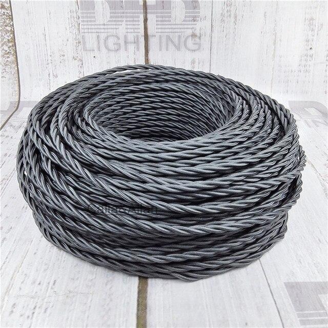 3x0,75 Vintage stoff Draht Verdreht Kabel Retro Geflochtenen ...