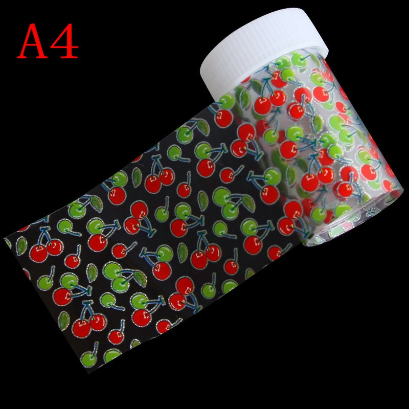 100*4cm 1 Bottle Manicure Nail DIY Decorations Fruite Heart Transfer Nail Art Foils 3D Nail Stickers & Decals Women Makeup Tools 24pcs lot 3d nail stickers decal beauty summer styles design nail art charms manicure bronzing vintage decals decorations tools