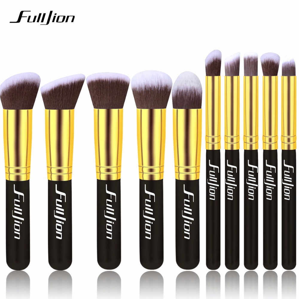 Fulljion 5/10pcs Pro Makeup Brushes Set Super Soft Eyebrow Brush Eye Shadow Brush Eyeliner Lip Brush Make Up Cosmetics Tools 20 pcs set makeup brushes set eye shadow foundation eyeliner eyebrow lip brush cosmetics tools kits beauty make up brush 2017