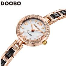 DOOBO 2016 Brand Women Watches Alloy Crystal Wristwatches Women Dress Watches Gift Women Gold Fashion Luxury Quartz Watch