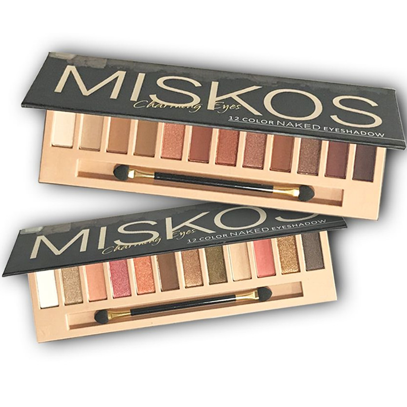 Miskos Nude Eyeshadow Makeup Pallete Shimmer and Shine Eye shadow Pallete Pigment Cosmetics Maquiagem Profissional Completa eyeshadow palette make up palette shimmer nature glow 12 color eye shadow set cosmetics sombra maquiagem profissional completa