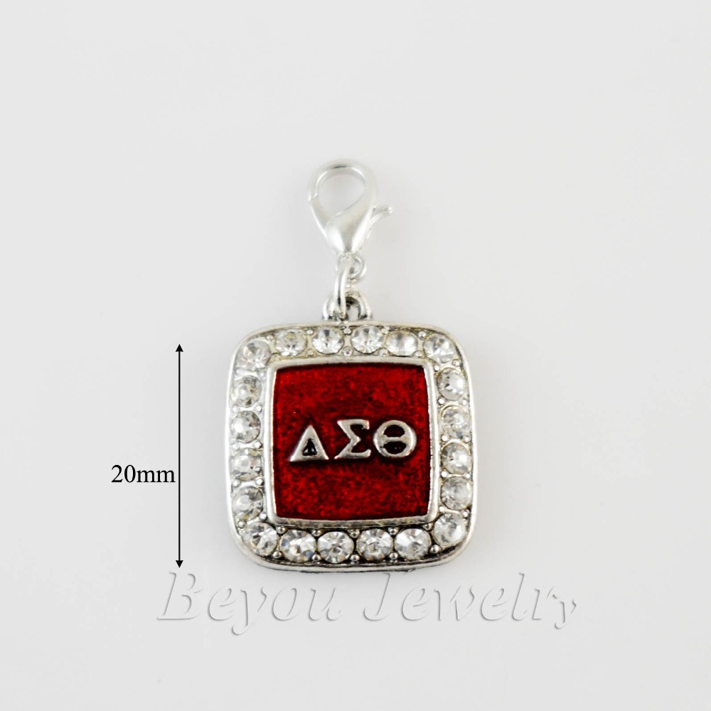 SORORITY GREEK Delta Sigma Theta DST enamel charm with lobster clasper 5pcs 1 lot