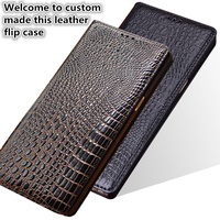 HY01 Luxury Genuine Leather Flip Coque Case For Samsung Galaxy A7 2018 Phone Case With Kickstand For Samsung Galaxy A730x Case
