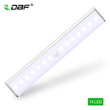 LED IR Infrared Motion Detector Wireless Sensor Lighting LED Wall Lights Closet Night Battery Lamp Cabinet Wardrobe Light недорого