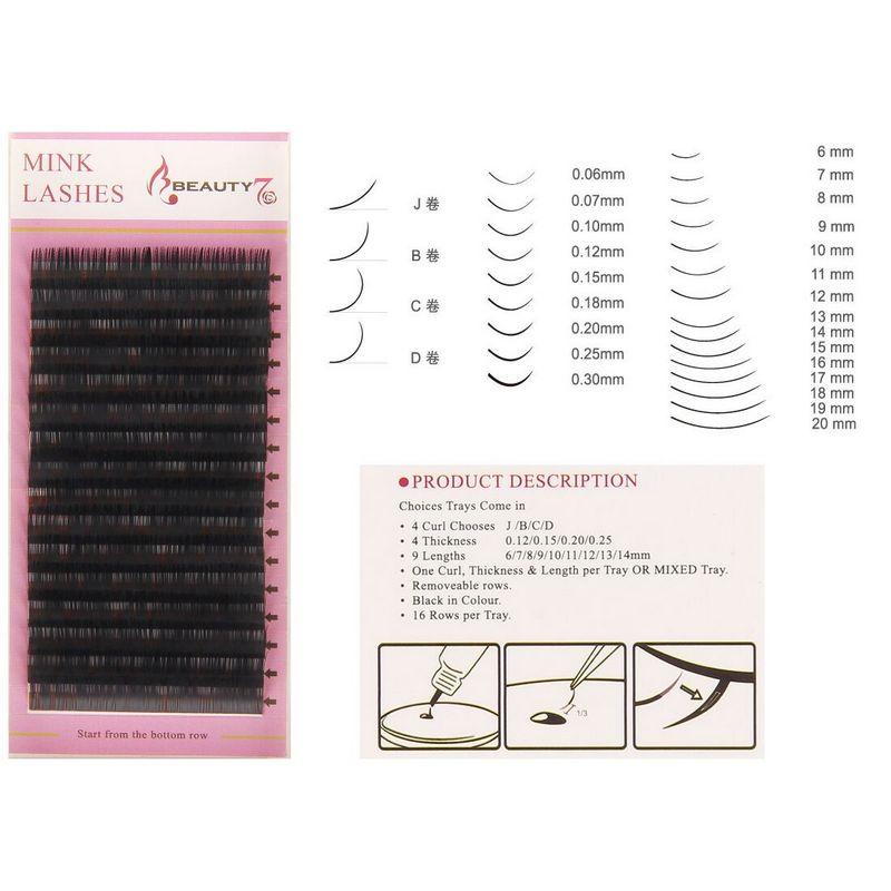 10Pcs 3D Pro Mink Eyelashes Extension Thick 0.15mm 7~14mm C Curl Individual Lash False Eyelash Handmade Makeup Fake Eyelashes parastone pro 10 статуэтка медсестра profisti parastone