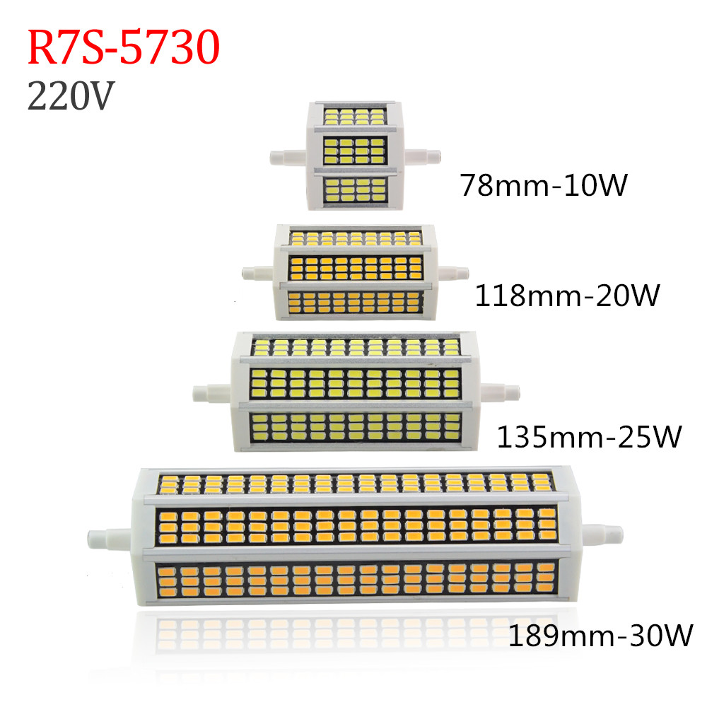led r7s 118mm 30w 360 degree 10w 78mm lampadas led r7s. Black Bedroom Furniture Sets. Home Design Ideas