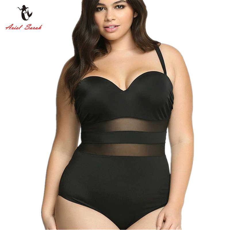 2f66314dea9 Ariel Sarah 2019 One Piece Swimsuit XXXL Large Size Swimwear Bathing Suit  Women Plus Size Swimsuit