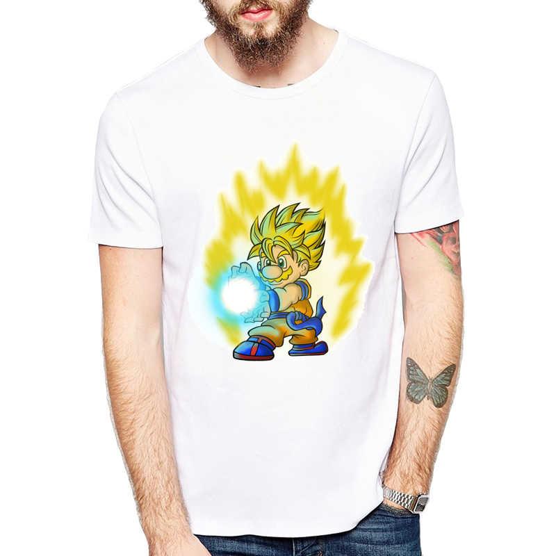 2019 Для мужчин Dragon Ball Z футболка Goku футболка с короткими рукавами и круглым вырезом Летние супер сайян, «Жемчуг дракона для костюмированной вечеринки по японскому аниме футболка унисекс забавный дизайн