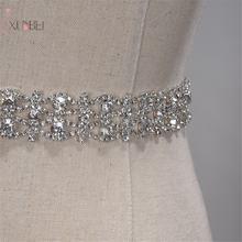 Ремень Стразы ручной работы с кристаллами для свадебного платья