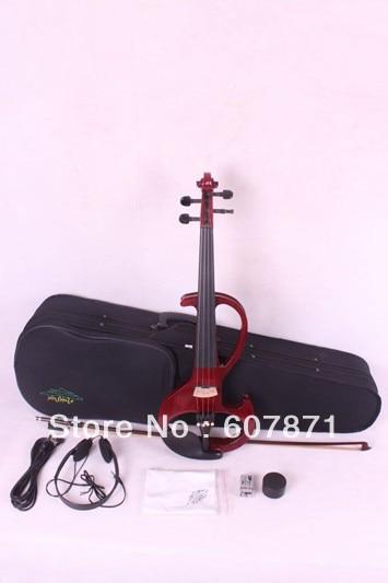 4/4 High quality 6 #  4 strings   red Electric violin itasme572 4