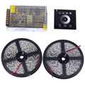 Cold White / Warm white 5M /10M 12V 5050 Waterproof led strip lights 5M 300leds+Touch controller+Power