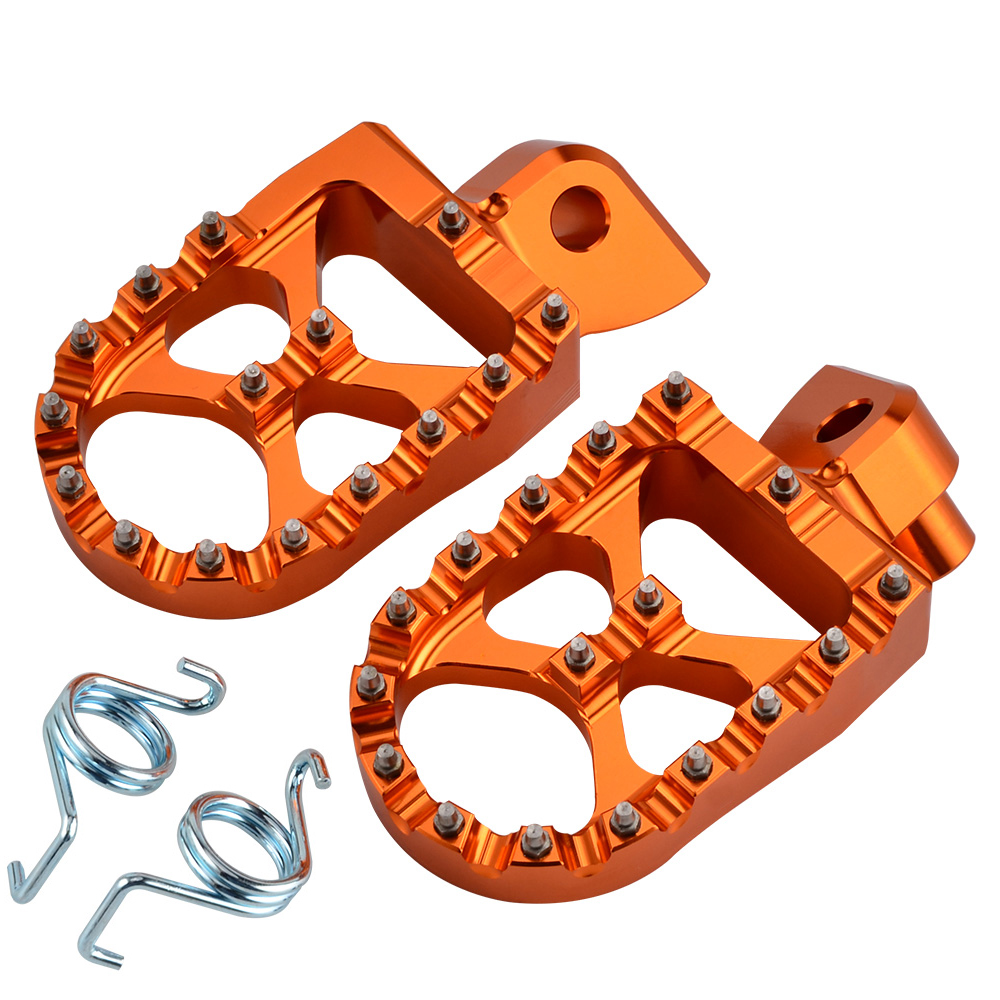 NICECNC Footrests Foot Pegs For KTM 50 65 85 125 250 SX 300 350 400 450 SXF 200 XC XCF EXC EXCF 525 530 XCW XCFW Freeride 250R