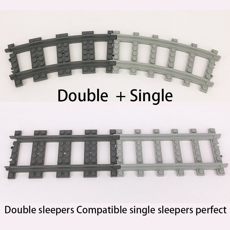 Image 5 - Ausini Flexible City Compatible legoed Trains Rail Track Railway model sets Forked Straight Curved Building Blocks Brick Toy-in Blocks from Toys & Hobbies