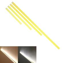 10PCS LED COB Strip 200mm 300mm 400mm 500mm 600mm 12v flexible Bar lights Warm White for Car Outdoor light cob led tubes