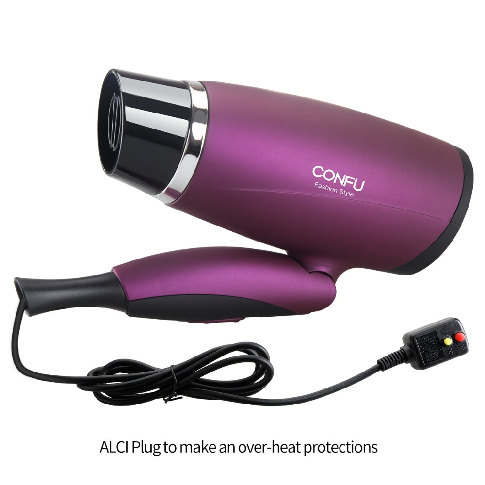 CONFU Over heat protection system Household Hair Dryer  220-240V Hair Dryer DC motor With one concentrator Bag clip comb