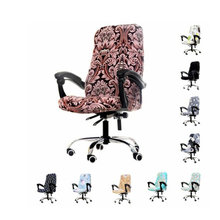 цена на Computer Office Chair Cover Universal Chair Stretch Rotating Spandex Slipcovers Stretch Case for Swivel Chair Armchair Work Seat