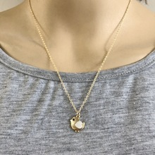 Fashion Gold Color Baby Chick  Pendant Cute Little Chicken Necklace Brand Jewelry Women