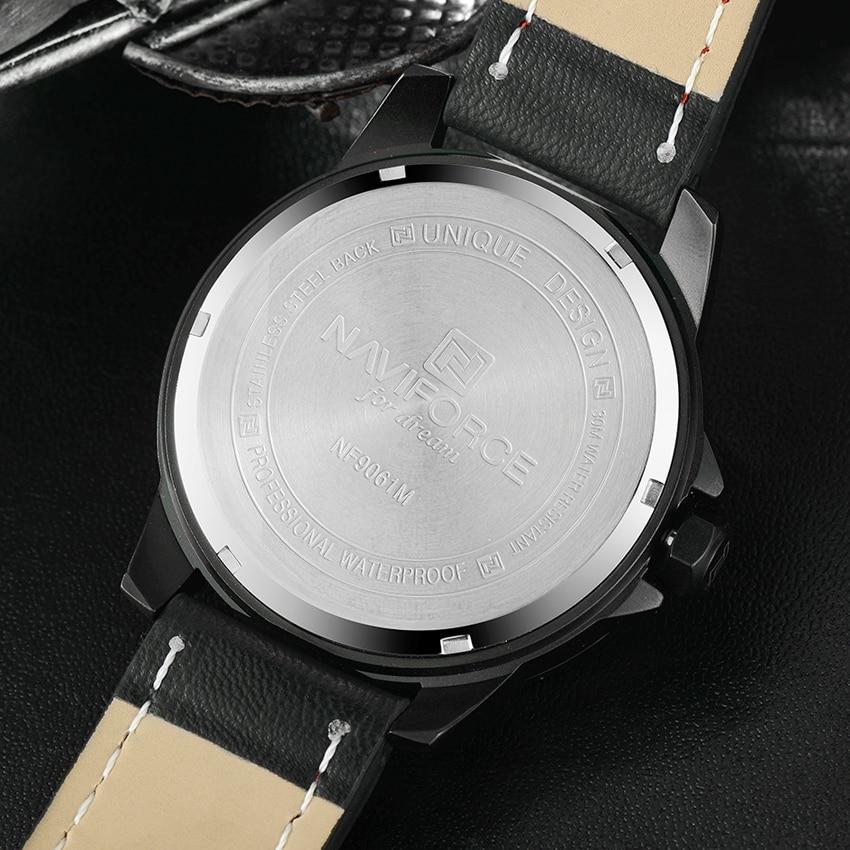 Luxury Brand NAVIFORCE Men Watch Quartz Date Military Sports Watches Men's Clock Casual Leather Wrist Watch relogio masculino 5