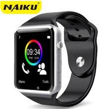 NAIKU A1 Смарт часы с Шагомер камера сим-карта вызова Smartwatch для Xiaomi Huawei HTC Android телефон лучше, чем Y1 DZ09