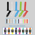 Urvoi band para apple watch esporte strap adapter fluoroelastomer substituição para iwatch pulso silicone durável colorido 38mm/42mm