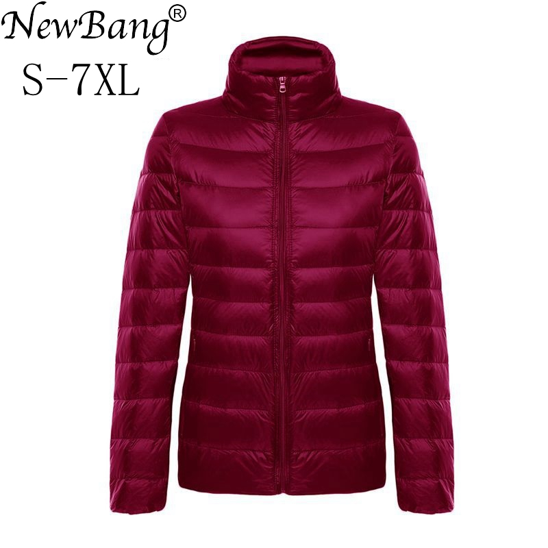 NewBang Brand 5xl 6xl 7XL Women Ultra Light   Down   Jacket Feather Jacket Plus Women's Overcoat Lightweight Windbreaker   Coats
