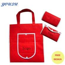 Складной мешок, складывая хозяйственная сумка, нетканые раза мешок с логотипом + Низкая цена + депозитный принять