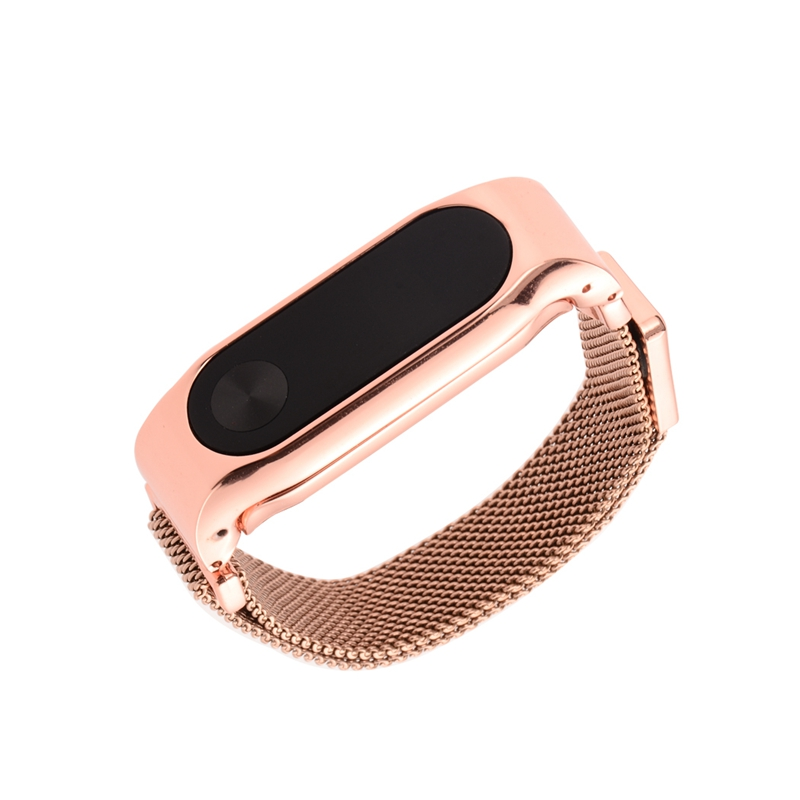 Mijobs Metal Strap For Xiaomi Mi Band 2 magnetic Stainless Steel Bracelet Watch   Belt   For MiBand 2 Wristbands Accessories