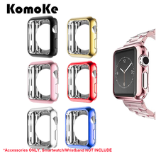 For iWatch Apple Watch Series 3/2/1 38mm/42mm Screen Protector Cover Protection Silicone TPU Soft Case Shell Protective Frame protector cover for apple watch case 3 2 1 iwatch 42mm 38mm all around ultra thin screen protector case soft silicone shell
