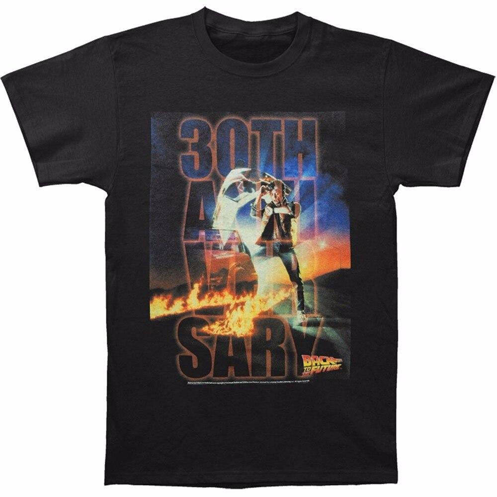 Unique T Shirts Crew Neck Men Short Printing Back To The Future Mens Btf 30Th Anniversary T-Shirt S To 3XL Black Shirt