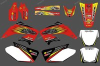 0161New Dragon TEAM GRAPHICS BACKGROUNDS DECALS STICKERS Kits For CR125 CR250 2002 2003 2004 2005 06