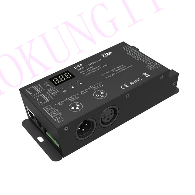 1024 dots DMX to SPI Converter DSA full color <font><b>LED</b></font> strip Decoder Engineering Decoder DMX SPI singnal Decoder support <font><b>WS2811</b></font> 2812 image