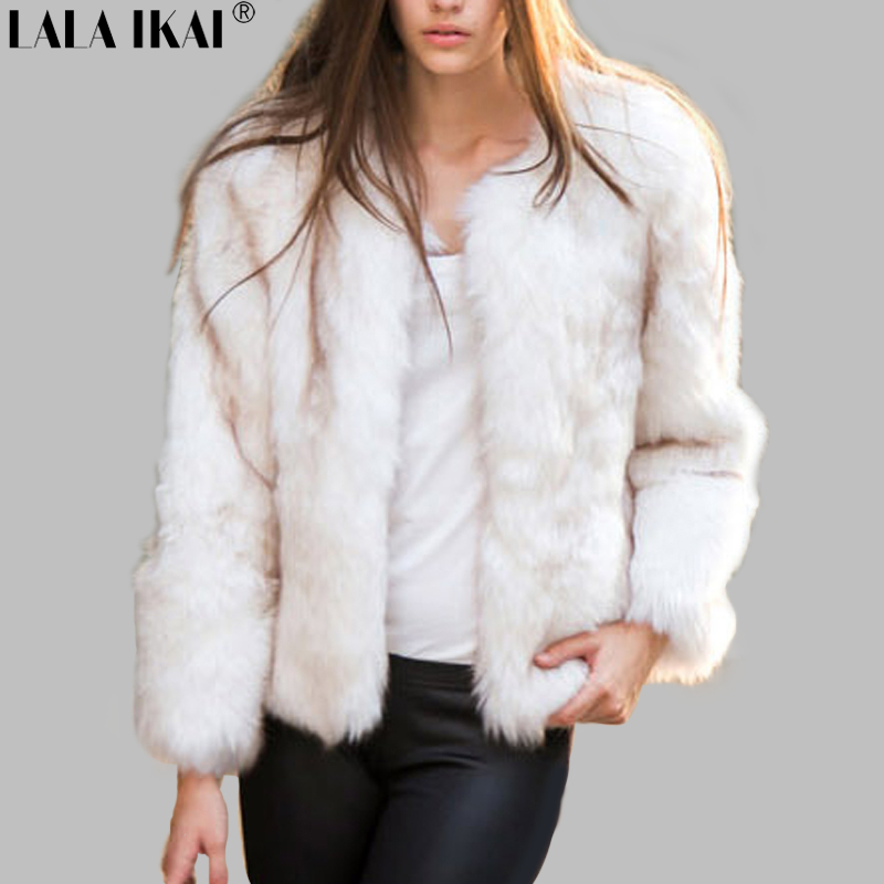 Aliexpress.com : Buy Women Winter Faux Fur Coat Fashion Fox Fur ...