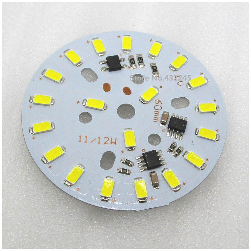 12W LED lamp plate smd 5730 Aluminum Base Plate no need driver. natural white 4000K 4500K. AC110V 120V 130V directly. DHL free.