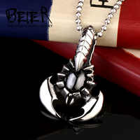 BEIER  Scorpion Necklace Pendant Stainless Steel Jewelry For Man And Boy Silver Color New Brand BP8-142