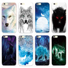 Cool Animal Print Wolf Pattern Phone Case for iPhone 4 4S SE 5 5S Back Cover 5C 6 6S 7 Plus Cases Capinha