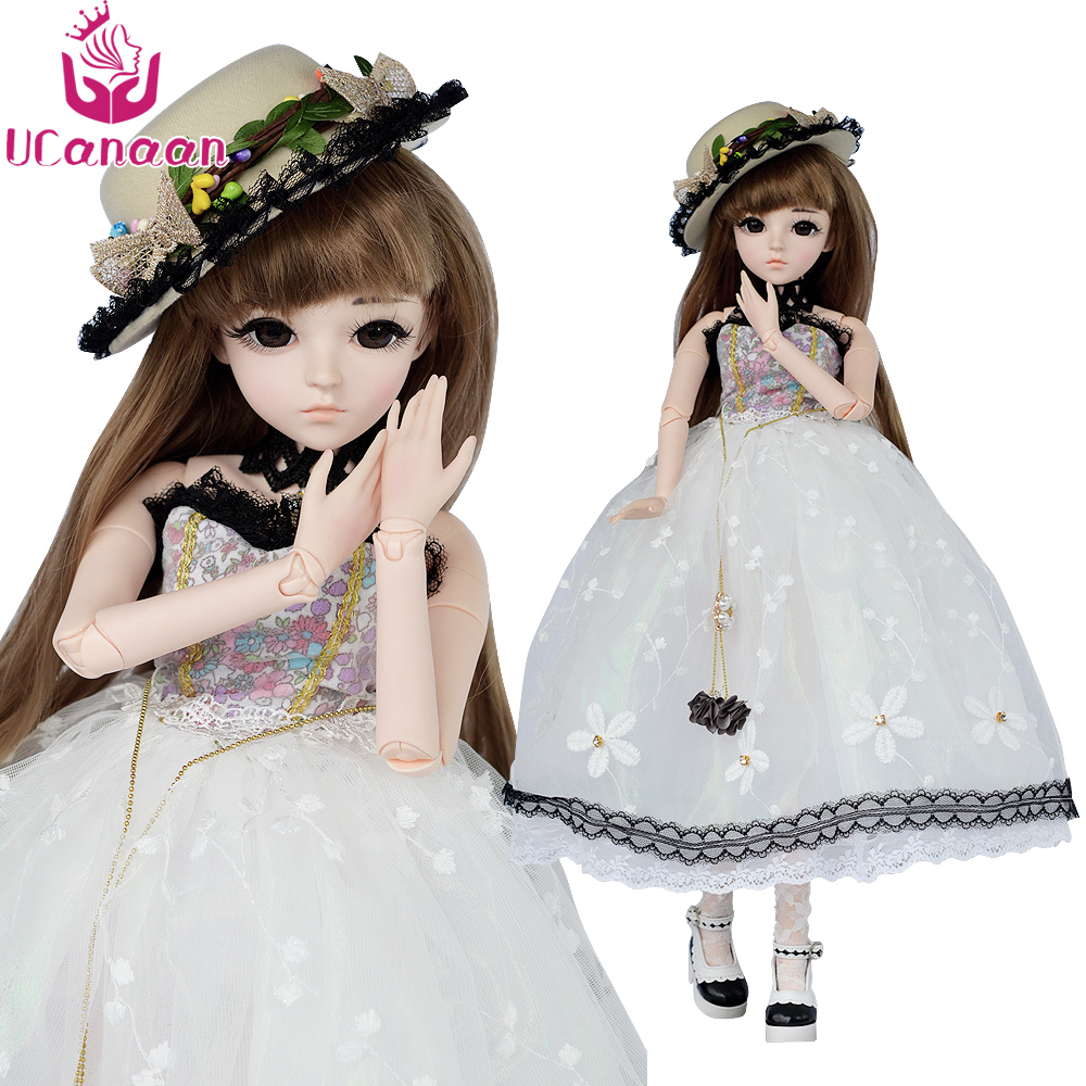 UCanaan 60cm Large BJD Doll Children Toys Cosplay Dress Wig Clothes Shoes Makeup SD Dolls Princess Resin Joints Toys For Girls сандалии hcs