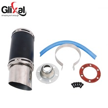 Glixal GY6 50cc 125cc 150cc 7-inch High Performance Racing Exhaust Muffler System 152QMI 157QMJ Scooter Moped ATV Motorcycle