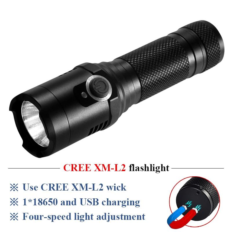 Lights & Lighting Camping Work Led Flashlight With Strong Magnet Cree Xm L2 Usb Torch Flashlight 18650 Waterproof Lantern Led Zaklamp Lampe Torche
