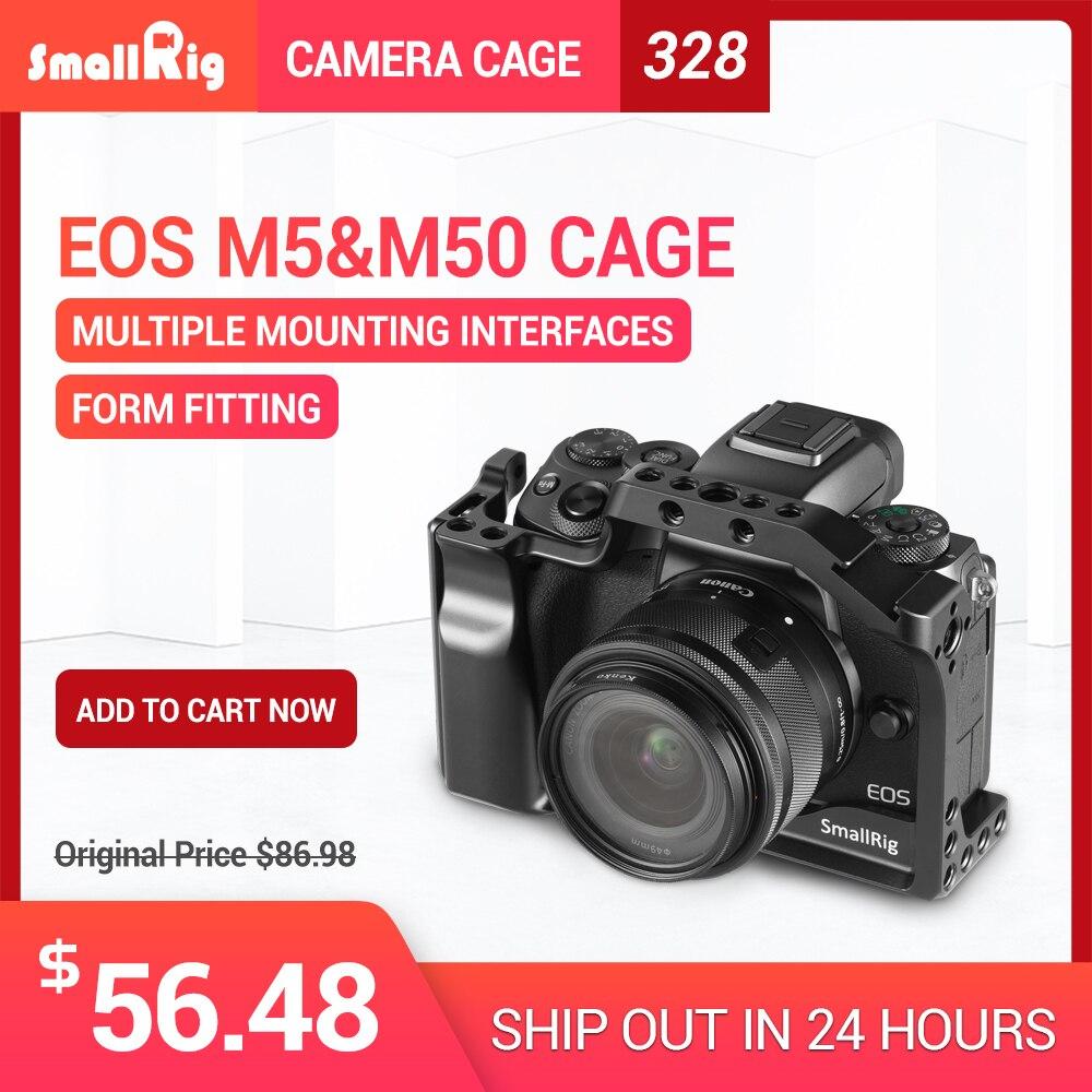 SmallRig M50 Cámara jaula para Canon EOS M50/para Canon M5 para Vlog W/La OTAN carril Zapata fría para el vídeo de Vlogging 2168