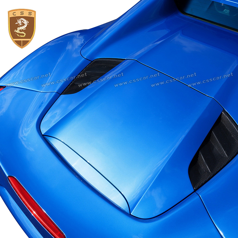 Automobile Carbon Fiber Rear Engine Vent Cover Fit For Ferrari 488 GTB Spider Modified Accessories Body